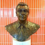 Bust of British Lord Michael Ashcroft, former owner of BTL (photo Mohammed Tawsif Salam)
