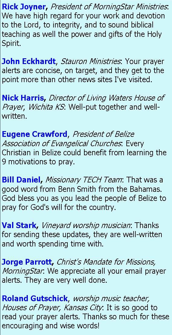 Revelations - Belize Prayer Network