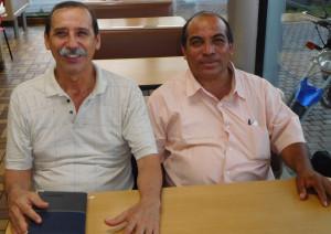 Pastors Augusto Ligorria and Victor Garcia, Secretary and President for the Peten evangelicals.